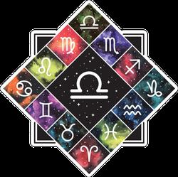 Libra Zodiac Sign Astrology Sticker