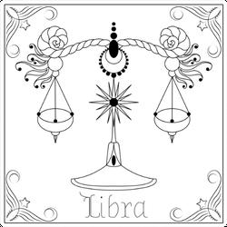 Libra Zodiac Sign In Frame Sticker