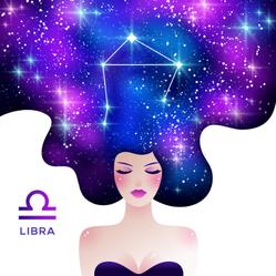 Libra Zodiac Stardust In Hair Sticker