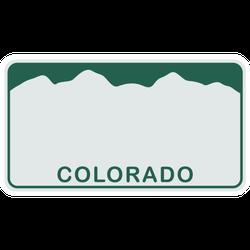 License Plate Of Colorado Illustration Sticker