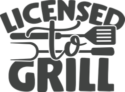 Licensed to Grill Sticker