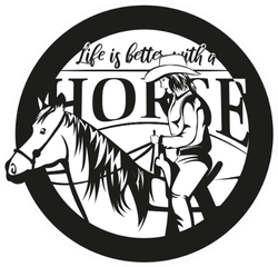 Life Is Better With A Horse Cowgirl Sticker