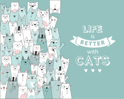 Life Is Better With Cats Sticker
