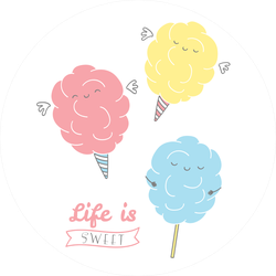 Life Is Sweet Cotton Candy Sticker
