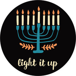 Light It Up Hanukkah Sticker