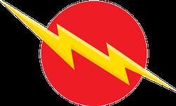 Lightening Bolt Crossing Red Circle Sticker