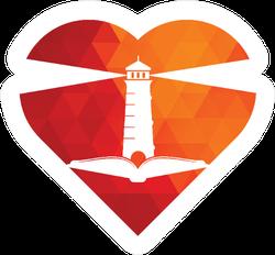 Lighthouse Heart Shape Sticker