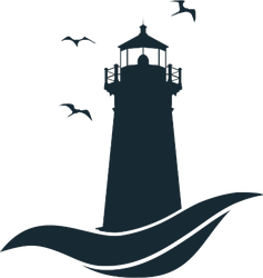 Lighthouse On Wave Simple Sticker