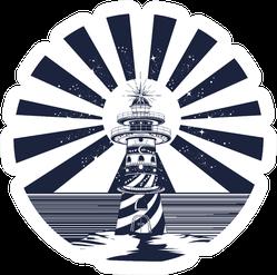 Lighthouse Tattoo Art Sticker