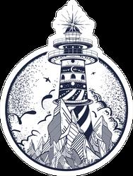 Lighthouse Tattoo Beacon On The Rock Sticker