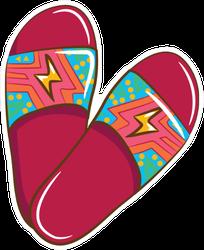 Lightning Bolt Slide Sandal Sticker