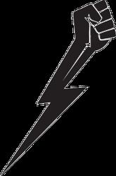 Lightning Fist Sticker