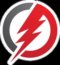 Lightning Logo Sticker