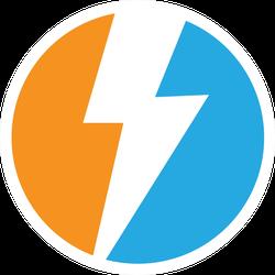 Lightning Power Logo Sticker