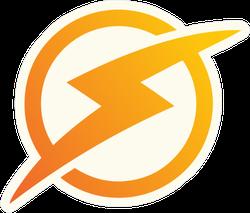 Lightning Symbol Of Energy Sticker