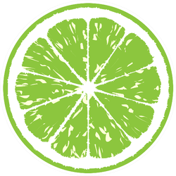 Lime Illustration Sticker
