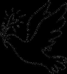 Line Art Dove Sticker