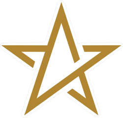 Line Art Gold Star Sticker