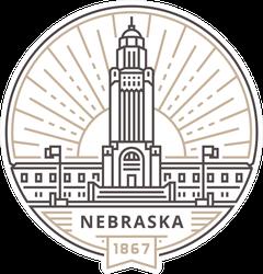 Linear Nebraska State Capitol Sticker