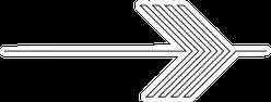 Lines In An Arrow Geometrical Illustration Sticker