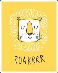 Lion Doodle Roarrr Sticker