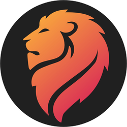 Lion Head Logo Sticker