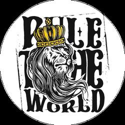 Lion Rule The World Sticker