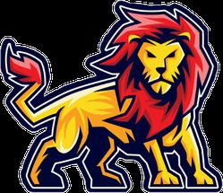 Lion Sport Logo Sticker