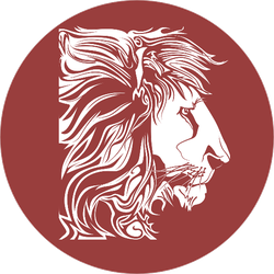 Lion Vector Circle Sticker
