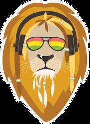 Lion With Dreadlocks Sticker