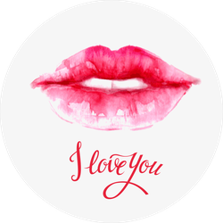 Lips Painted In Watercolor Sticker