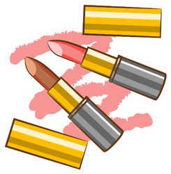 Lipstick Graphic Sticker