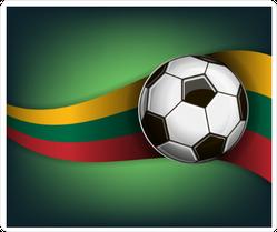 Lithuania Soccer Sticker