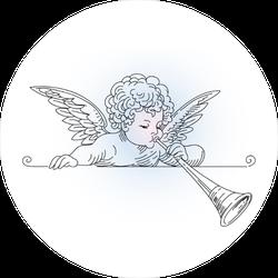 Little Angel Playing Trumpet Sticker