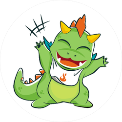 Little Baby Dragon Sticker