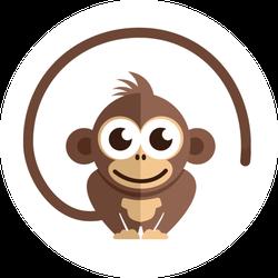 Little Baby Monkey Sticker