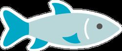 Little Blue Fish Sticker