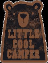 Little Cool Camper Sticker