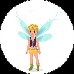 Little Cute Boy Fairy Sticker