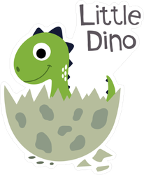 Little Dino Baby Sticker