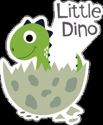 Little Dino Baby Sticker