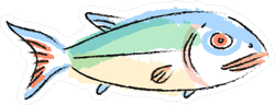 Little Fish With Red Fins Sticker