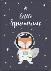 Little Fox In A Space Suit Sticker