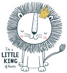 Little King Baby Sticker