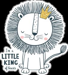 Little King Baby Sticker