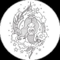 Little Mermaid Princess Sticker