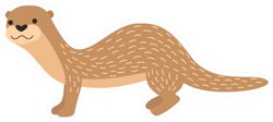 Little Otter Cartoon Sticker