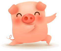 Little Pig. Chinese New Year Dance Move Sticker