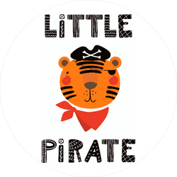Little Pirate Tiger Sticker