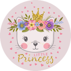 Little Princess Cat With Crown Sticker